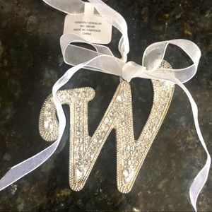 """Other - SilverBling """"W"""" Ornament/Accent Piece! NWT!"""